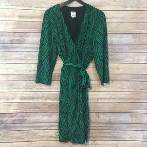 Oleg Cassini Green Dress